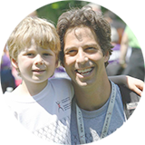 Impact of IBD Report cover image of volunteer and his son