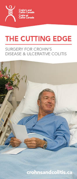 The Cutting Edge - a brochure about surgery for Crohn's Disease and ulcerative colitis