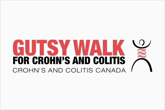 Gutsy Walk for Crohn's and Colitis Logo
